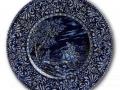 Trousseau grand plat cobalt